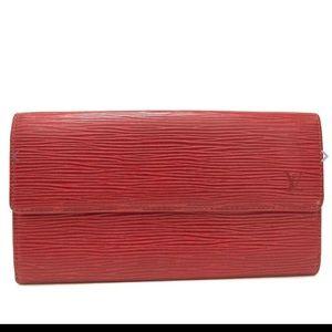 BRAND NEW Louis Vuitton Epi Leather Sarah Wallet